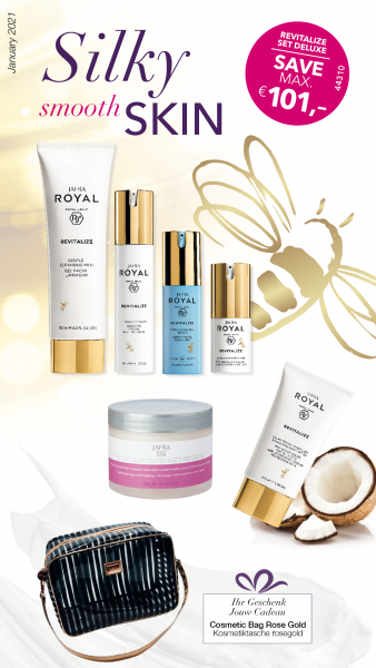 Revitalize Set Deluxe - 6 Produkte + Gratis Kosmetiktasche rosegold