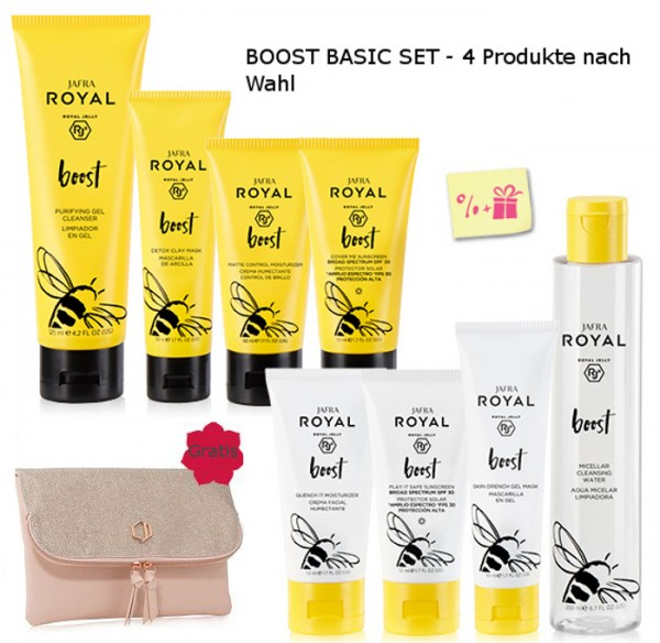 BOOST SET BASIC - 4 Produkte nach Wahl + Gratis Diamonds Clutch