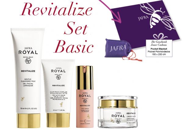 Jafra Revitalize Set Basic + Gratis Pocket Picknickdecke