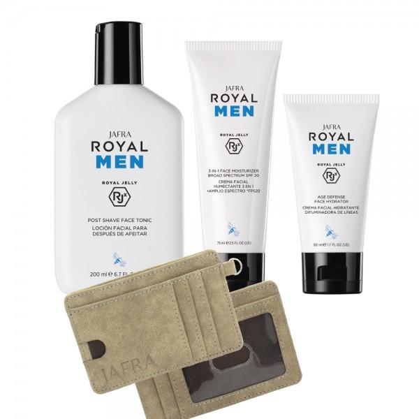 Royal Men Set - 3 Produkte + Gratis Geldbörse mit RFID-Schutz