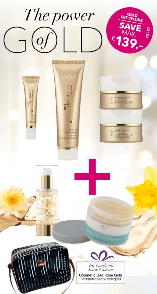 Gold Set Deluxe - 6 Produkte + Gratis Kosmetiktasche rosegold