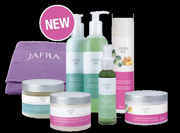 Jafra Spa Set Deluxe  - 5 Produkte + Gratis Handtuch flieder