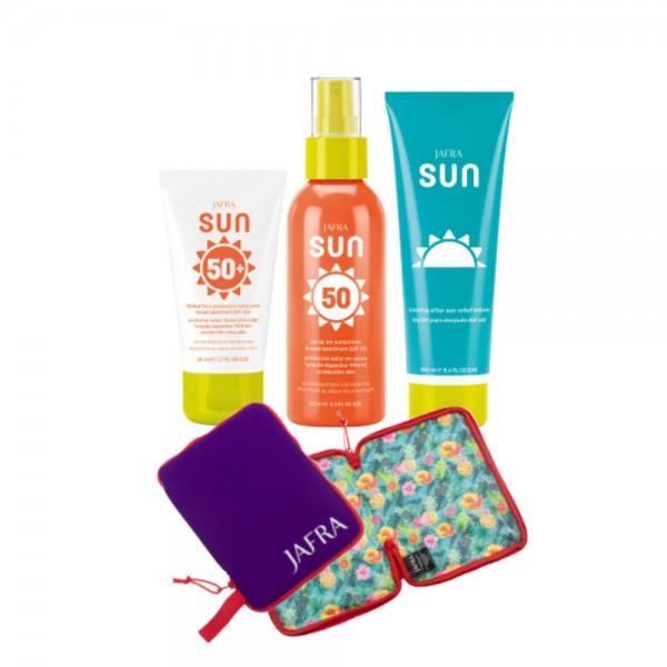 Sunshine Set - 3 Produkte Ihrer Wahl + 2-in-1 Bikinitasche